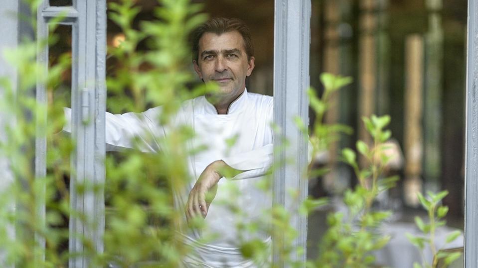 Three-star chef Yannick Alléno at his flagship restaurant at Pavillon Ledoyen in Paris.