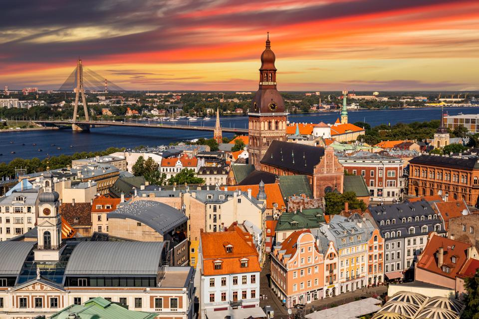 St Peter's in the centre of Riga, Latvia's capital city.