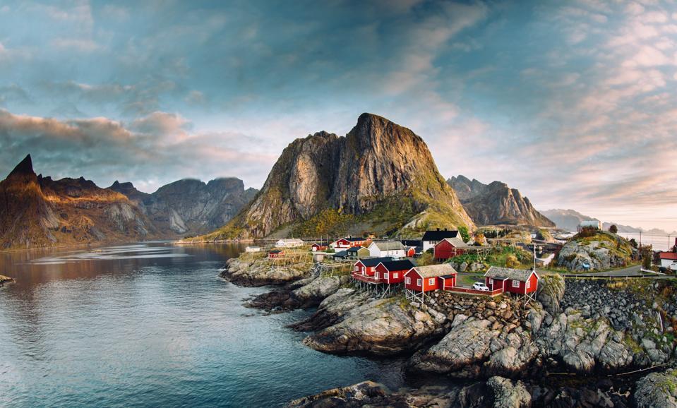 Norwegian fishing village on the Lofoten Islands.