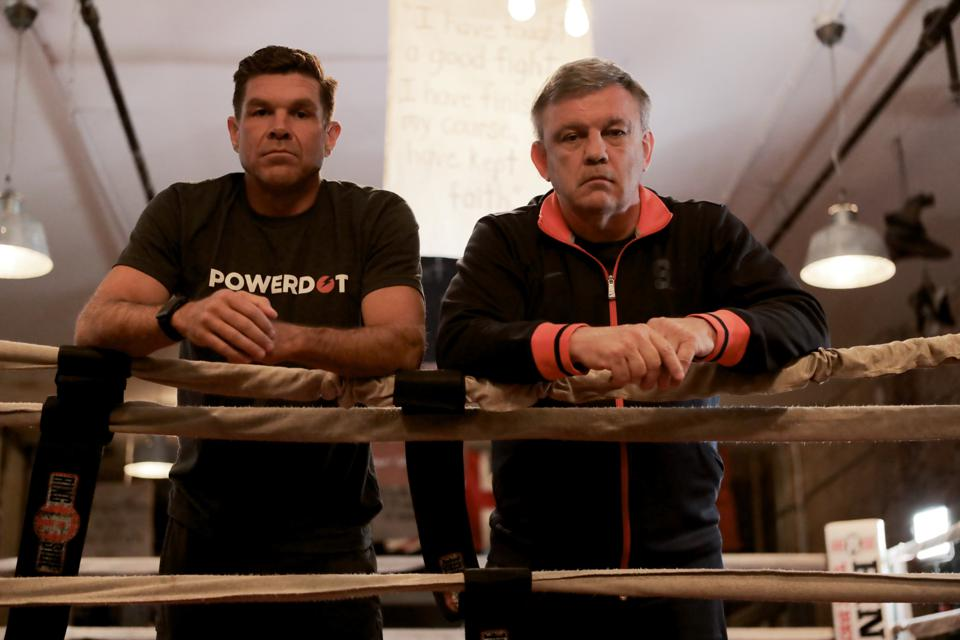 """Ken Rideout and Teddy Atlas host """"THE FIGHT with Teddy Atlas,″ a weekly podcast with 174,000 subscribers."""