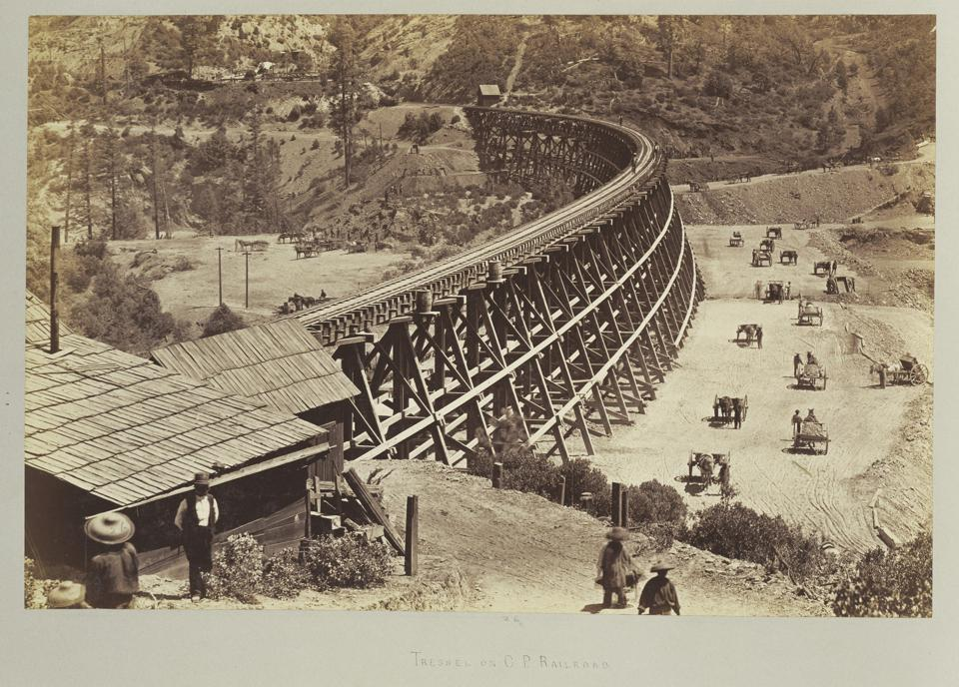 Trestle on Central Pacific Railroad.