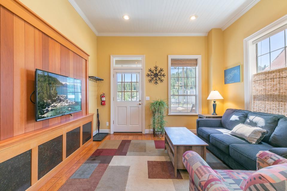 living room inside queen anne victorian brickelltown 10230 Donner Pass Road truckee