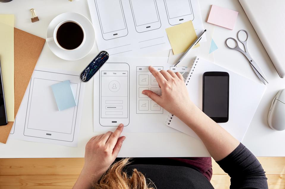 Wireframes. User experience concept