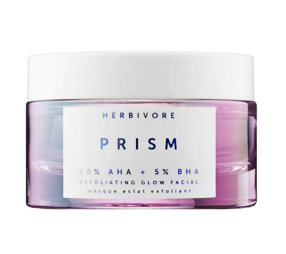 10 Makeup And Beauty Brands To Shop During Pride Month To Support The LGBTQ Community-Herbivore Prism AHA + BHA Exfoliating Glow Facial