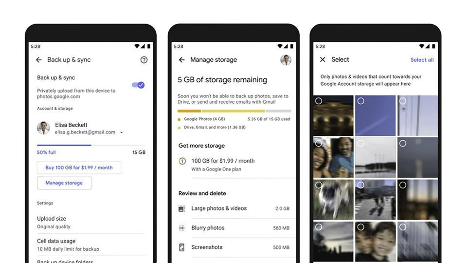 You can meet your online storage quota with the new storage management tool from Google.