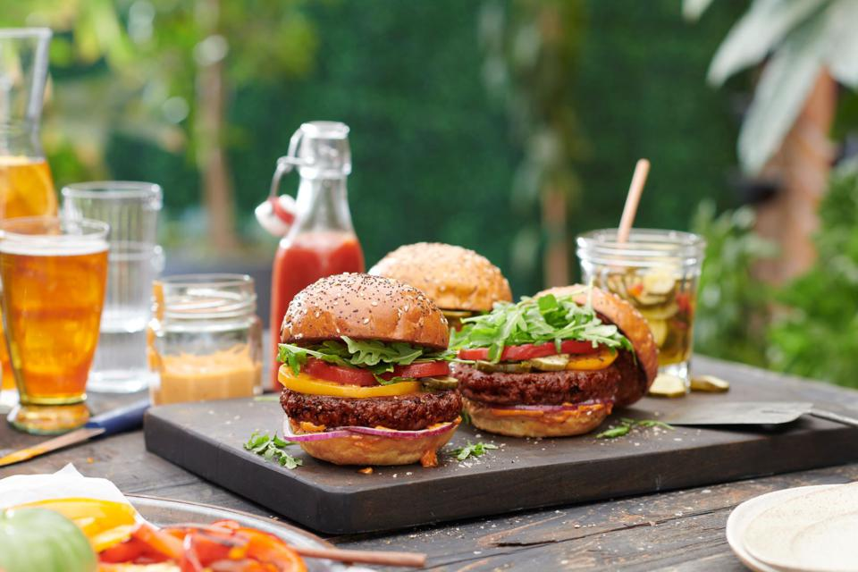Nestlé-owned  Sweet Earth has beefed up its plant-based Awesome Burger in time for summer cookout season.