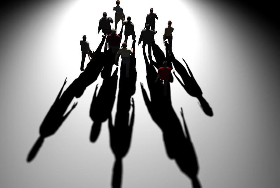 Working together concept 3d render