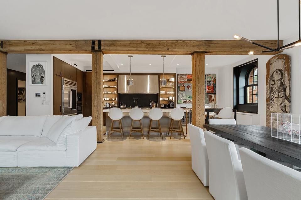 A open-plan living room