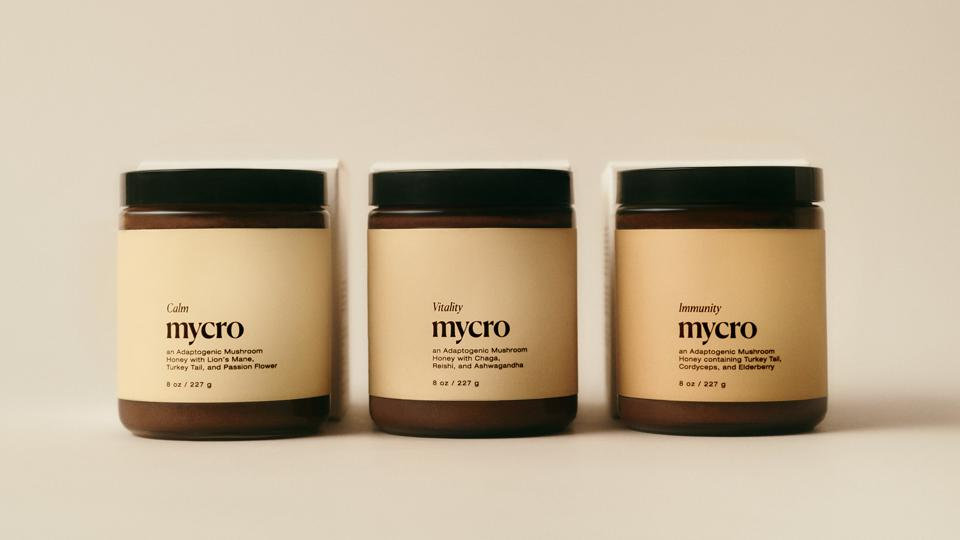 Mycro's three honeys: Calm, Vitality and Immunity.