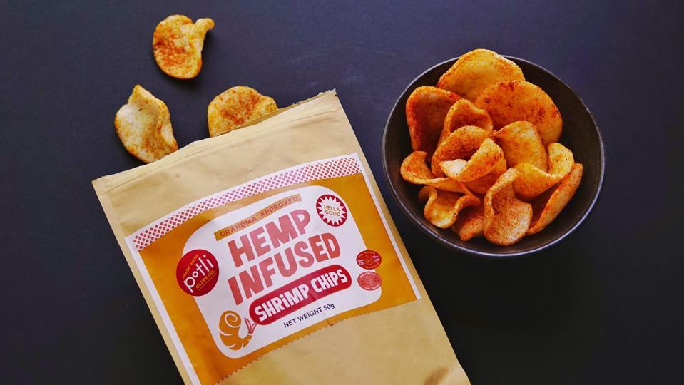 Potli Hemp-Infused Shrimp Chips.