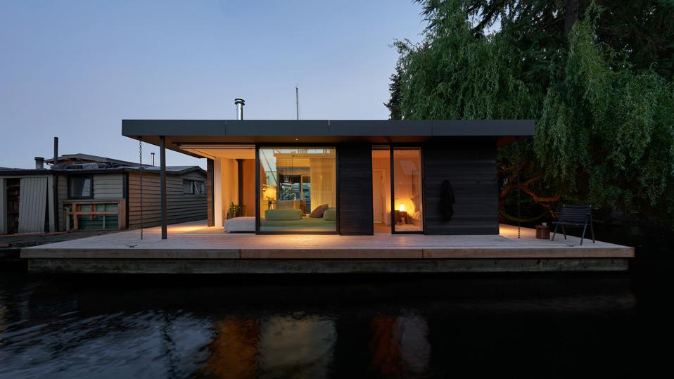 Craftsman style home on the water