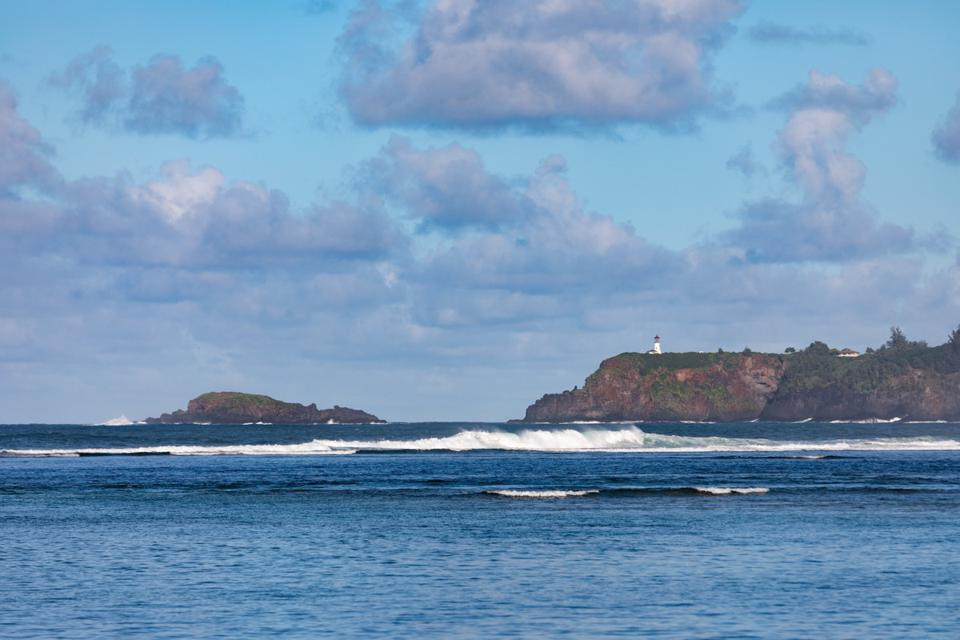 the view of lighthouse from 3630 ANINI RD oceanfront estate kilauea