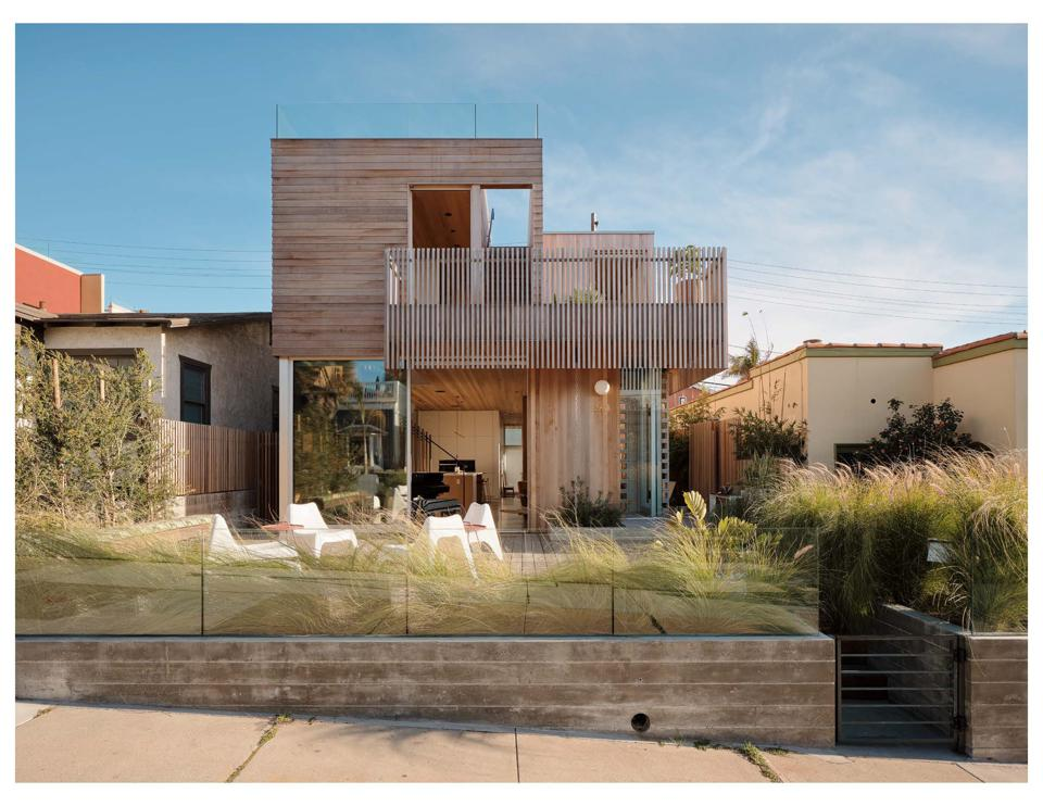 Contemporary home with deck