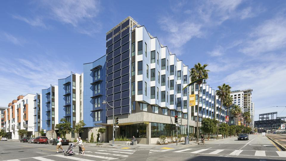 Modern apartment building in San Francisco