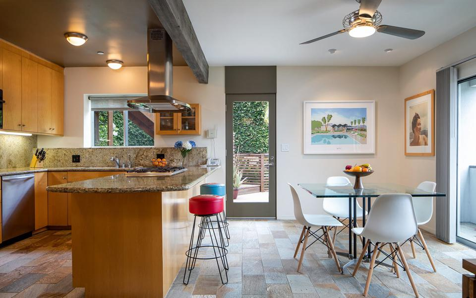 donald wexler designed hollywood hills house kitchen opening to patio