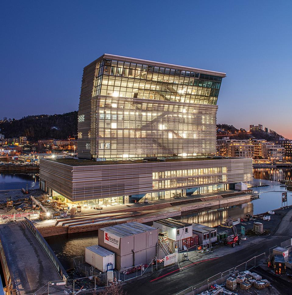 Munch-museet i Oslo ligger i sin nye beliggenhet ved vannkanten.