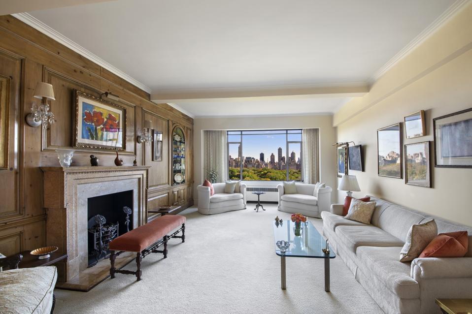 living room inside 55 Central Park West, Apt 14E, New York, NY