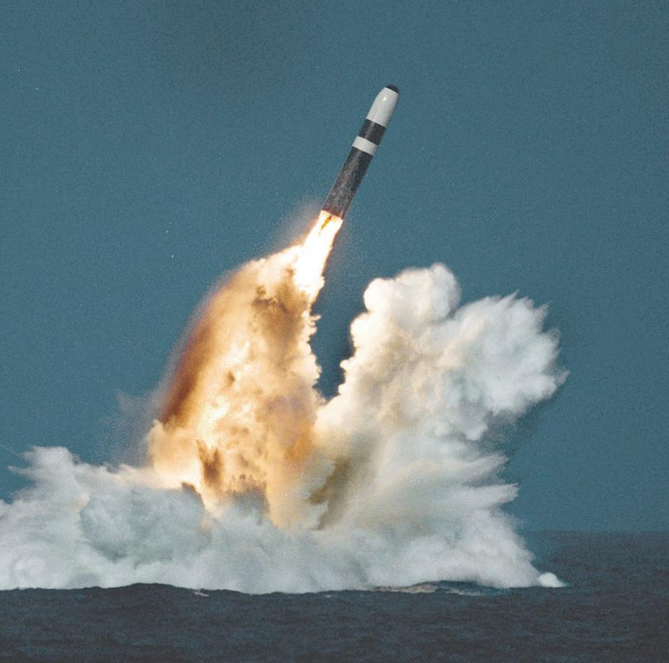 Rocket launch from the sea.