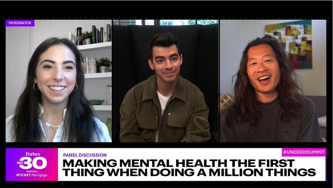 Justin Kan and Joe Jonas talk mental health at the Forbes Under 30 Summit.