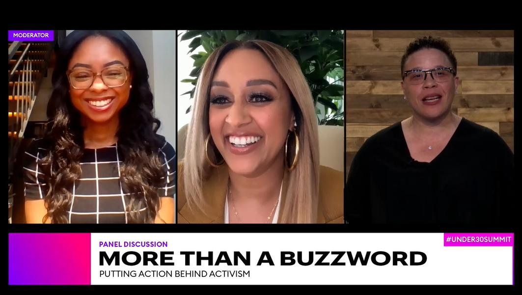At the Forbes Under 30 Summit Kickoff, Tia Mowry-Hardrict and Trina Scott discussed how their putting action behind their vows to be community advocates.