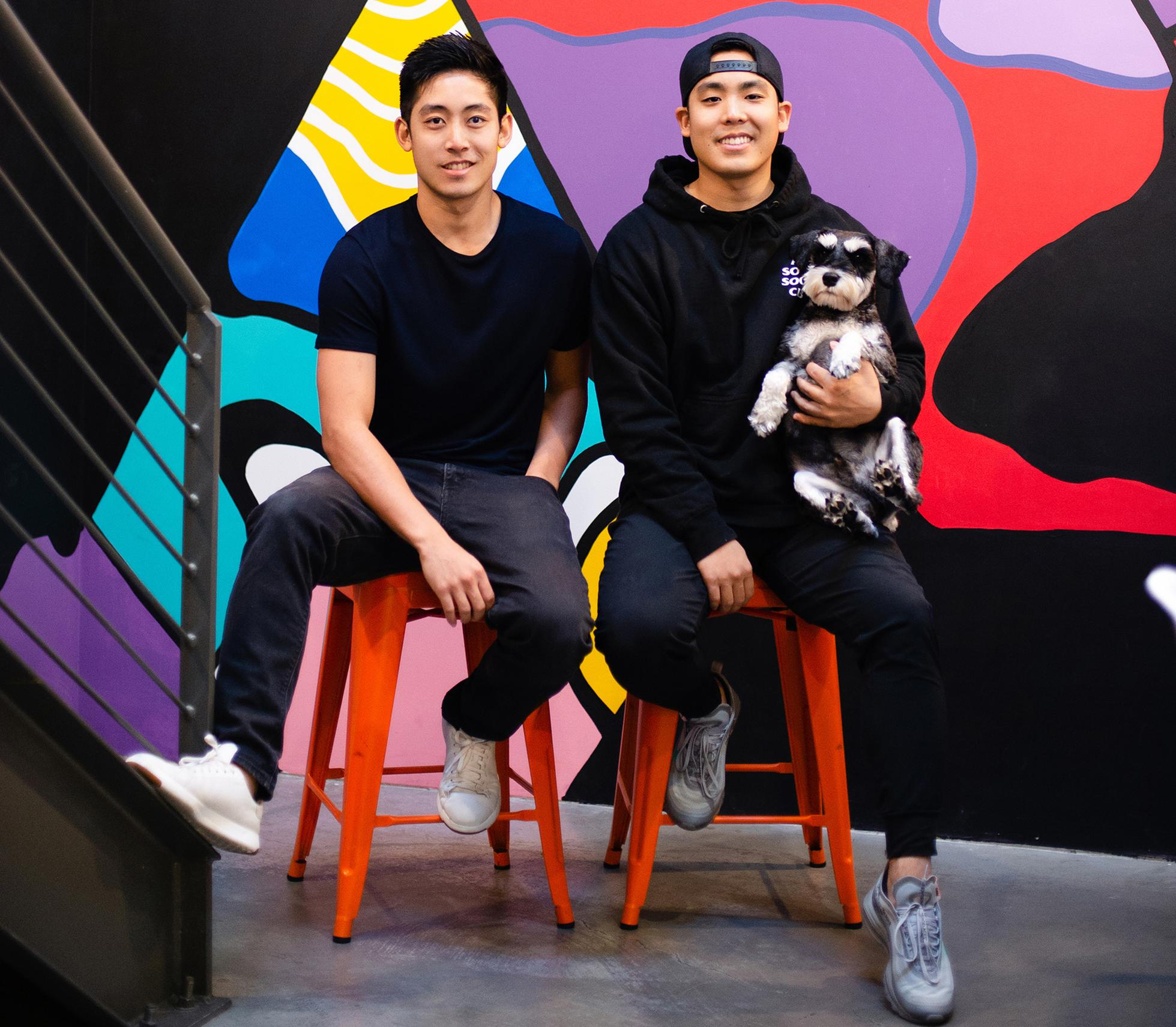 Austen Ma and Alex Ma, TTYL's founders, are raising a big round for their new app Poparazzi.
