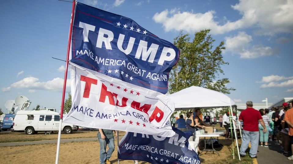 Republican Candidate Donald Trump Holds Campaign Rally In Windham, New Hampshire