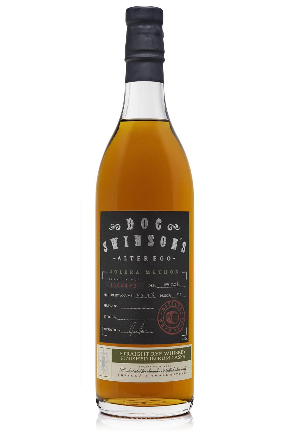 Doc Swinson's Alter Ego, Solera Method, Rye Whiskey