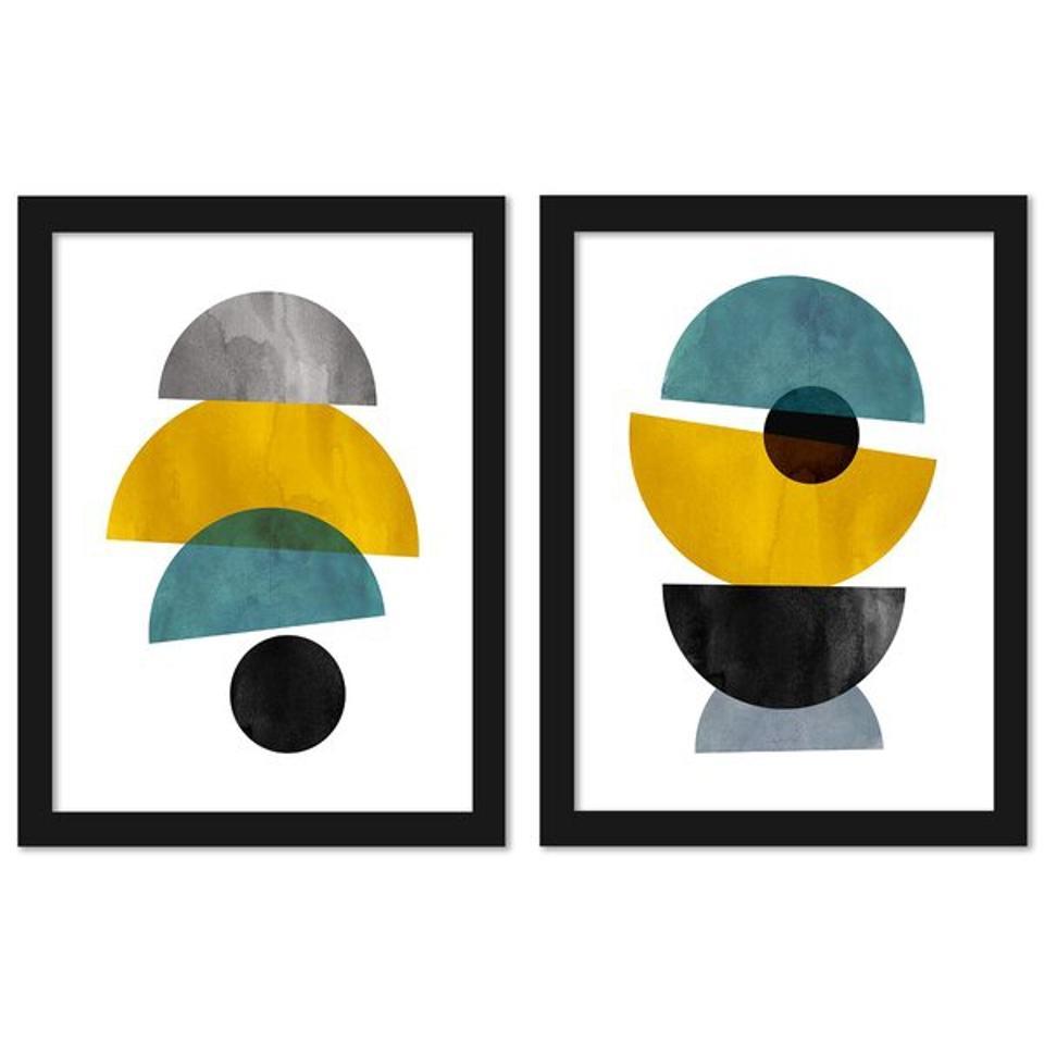 Mayfair memorial day sale: Mercury Row® Modern Mid Century by Pop Monica - 2 Piece Graphic Art Print Set on Canvas & Reviews | Wayfair