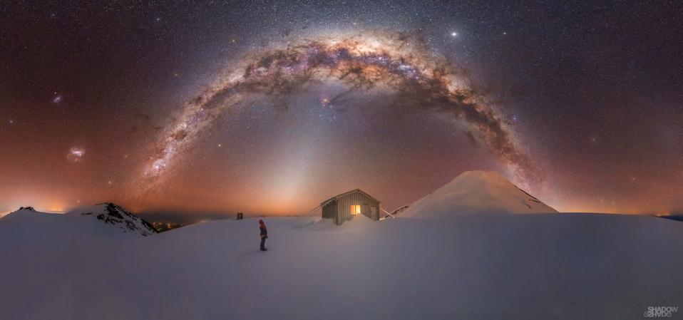 Fanthams Peak, Mt. Taranaki, New Zealand.