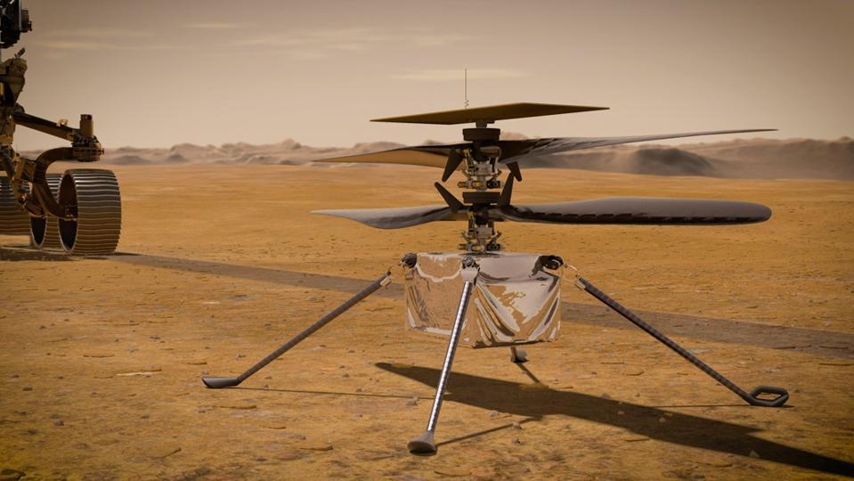 Ingenuity illustration on Mars