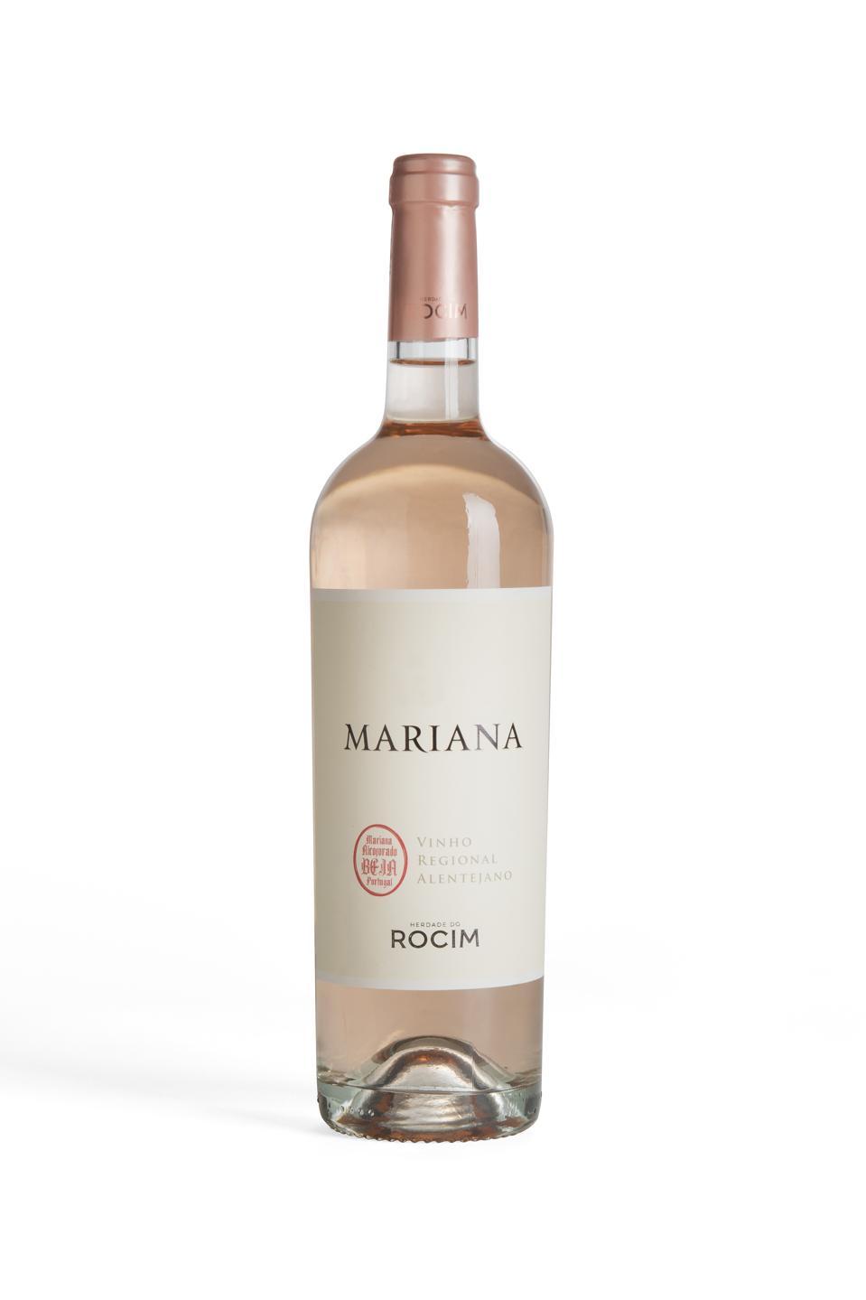 Bottle of Herdad do Rocim Mariana rosé wine