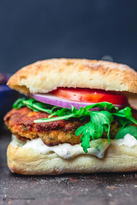 Mediterranean-Style Salmon Burgers