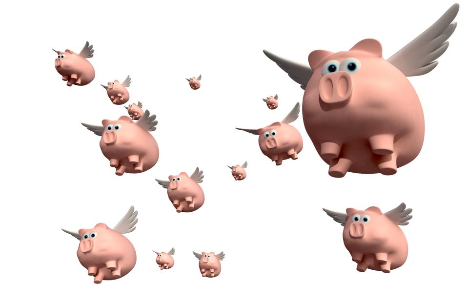 When pigs fly in groups