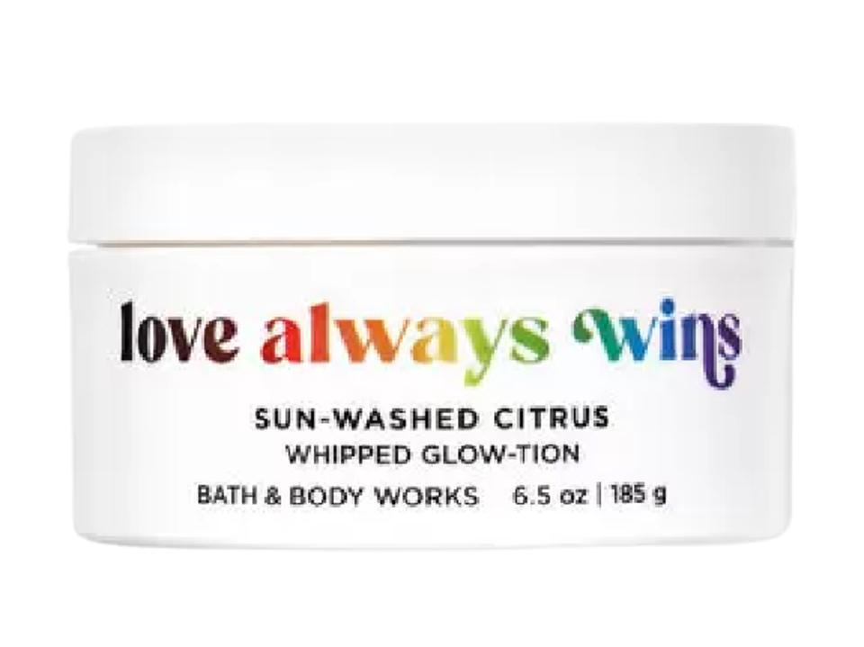 10 Makeup And Beauty Brands To Shop During Pride Month To Support The LGBTQ Community-Bath and Body Works Love Always Wins Candle