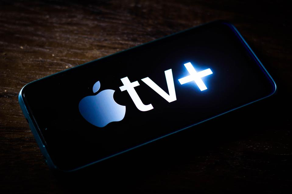 In this photo illustration the Apple TV+ (Plus) logo seen...