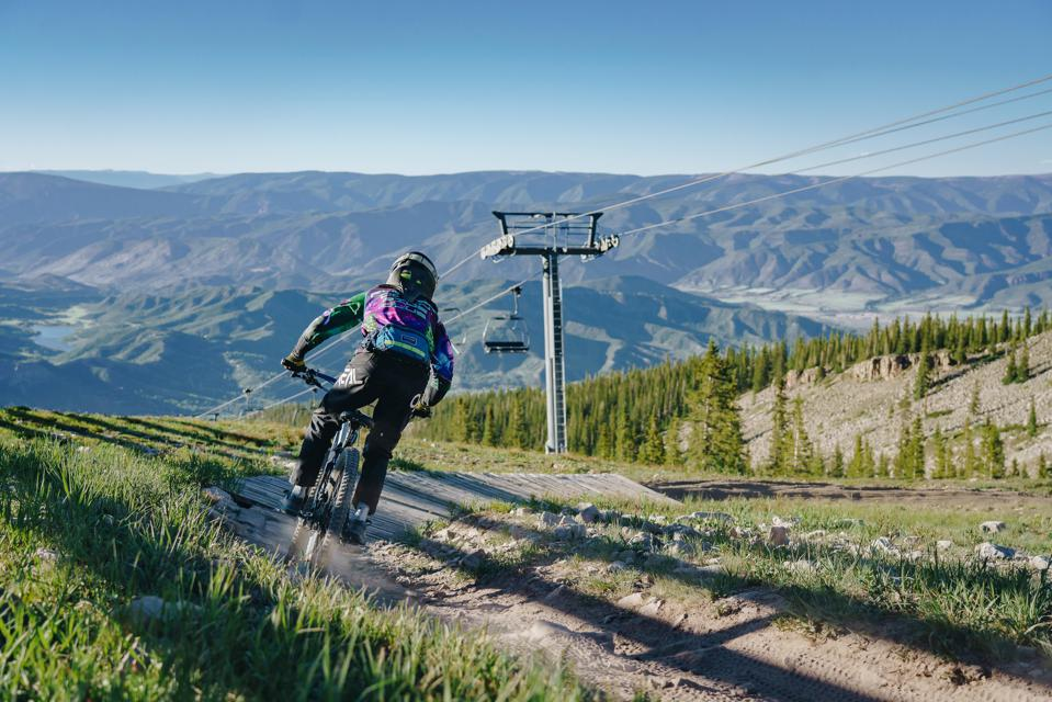 Mountain biking in Snowmass