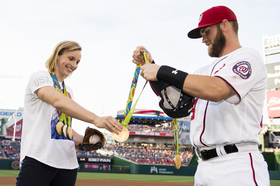 Katie Ledecky @ Baltimore Orioles v Washington Nationals