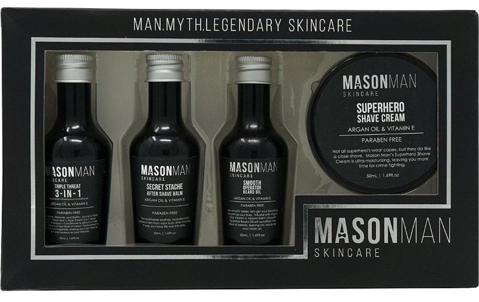 Grooming kit in black packaging