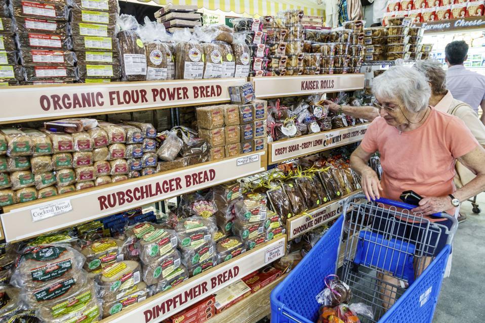 Florida, Delray Beach, The Boys Farmers Market bread aisle