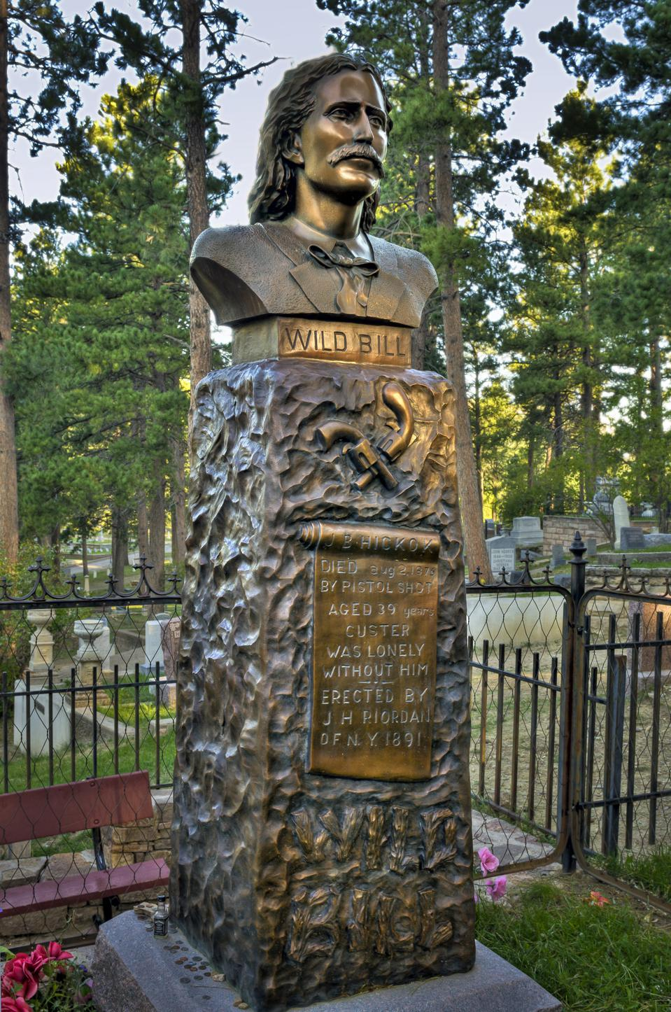 Bust of Wild Bill Hickok, Mount Moriah Cemetery