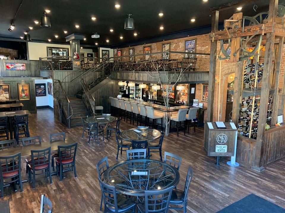 The interior of Jacob's Brewhouse & Grocery