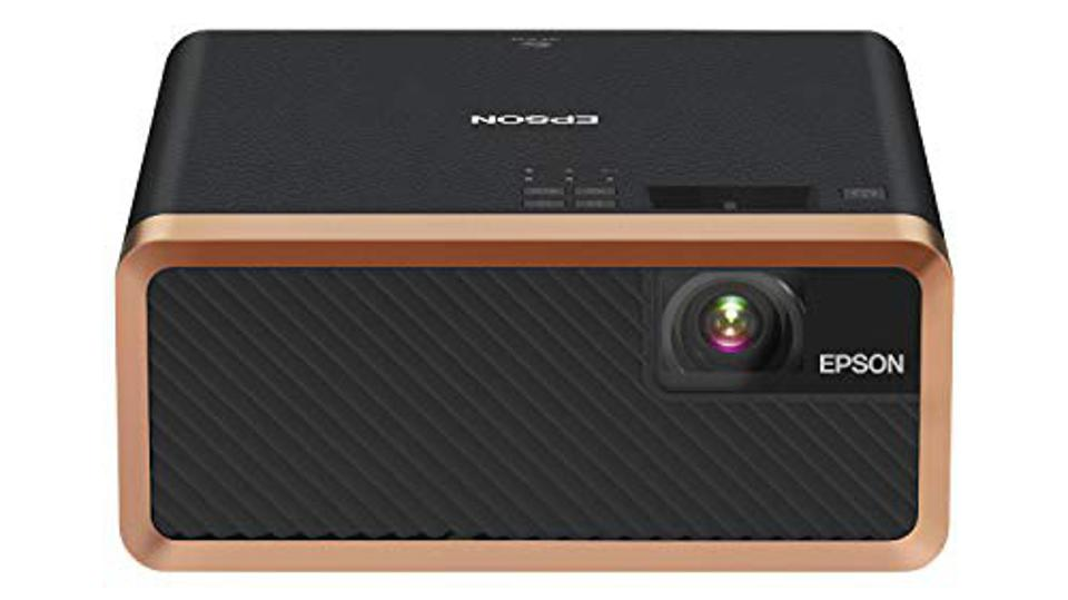Epson - EF-100 Mini Laser StreamingWireless 3LCD Projector with Android TV - Black