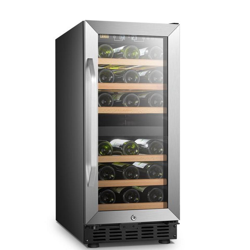 Wayfair Memorial Day sale: Lanbo 28 Bottle Built-in Refrigeration Freestanding Wine Refrigerator & Reviews | Wayfair