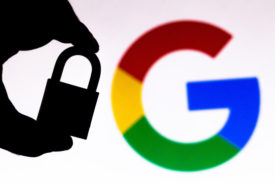 A padlock next to the Google logo as billions of users get a privacy upgrade