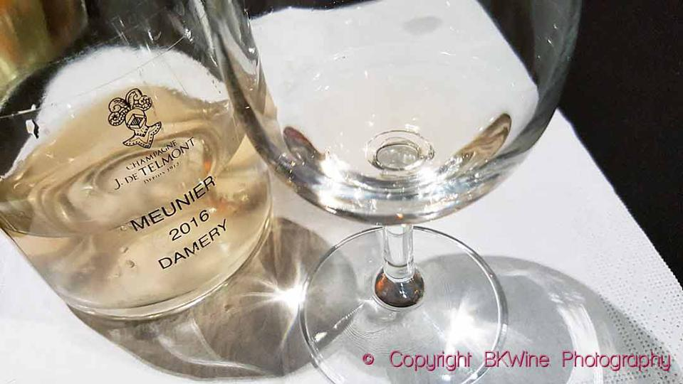A ″vin clair″ pinot meunier from Damery at Champagne J de Telmont