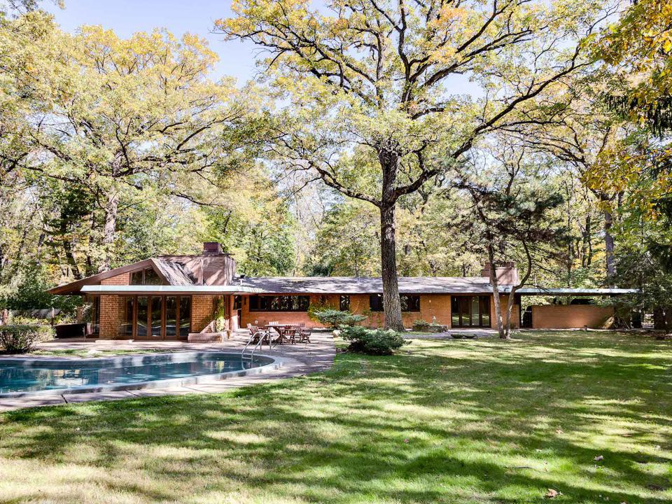 The John O. Carr house by Frank Lloyd Wright is located approx. 25 miles northwest of Chicago.