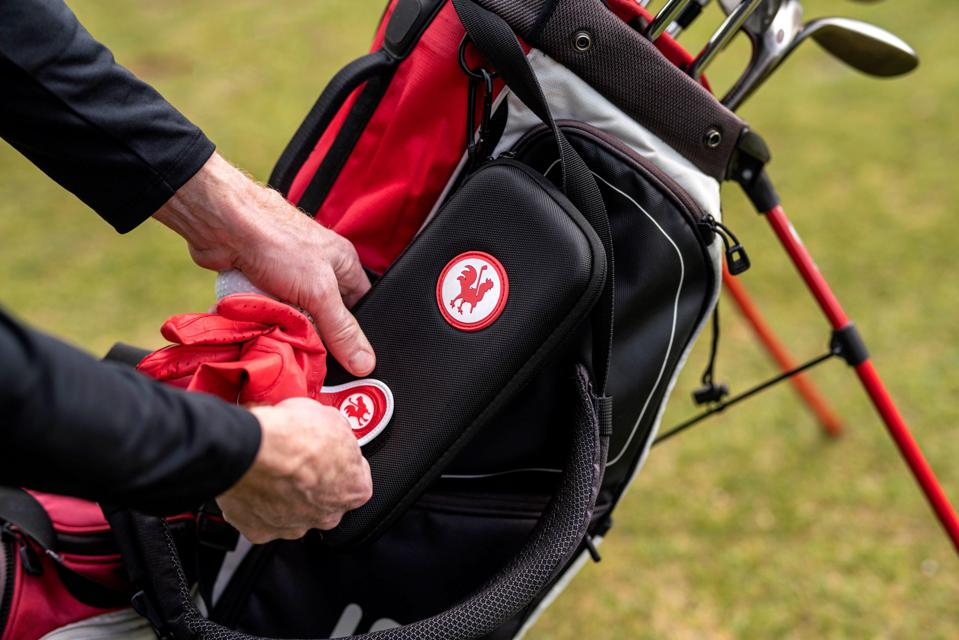 Red Rooster golf glove and glove keeper