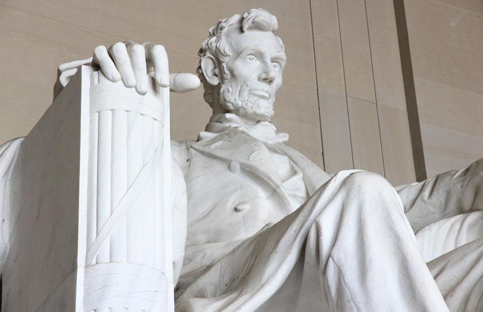 Abraham Lincoln Memorial close-up