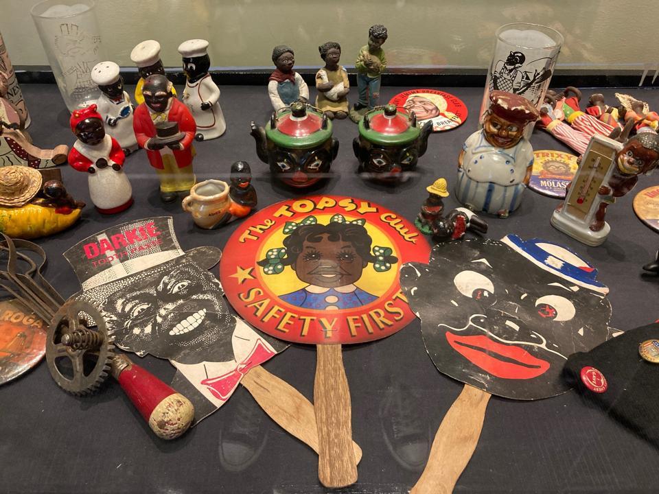 Racist pop culture ephemera at Roots 101 Museum in Louisville, Kentucky.