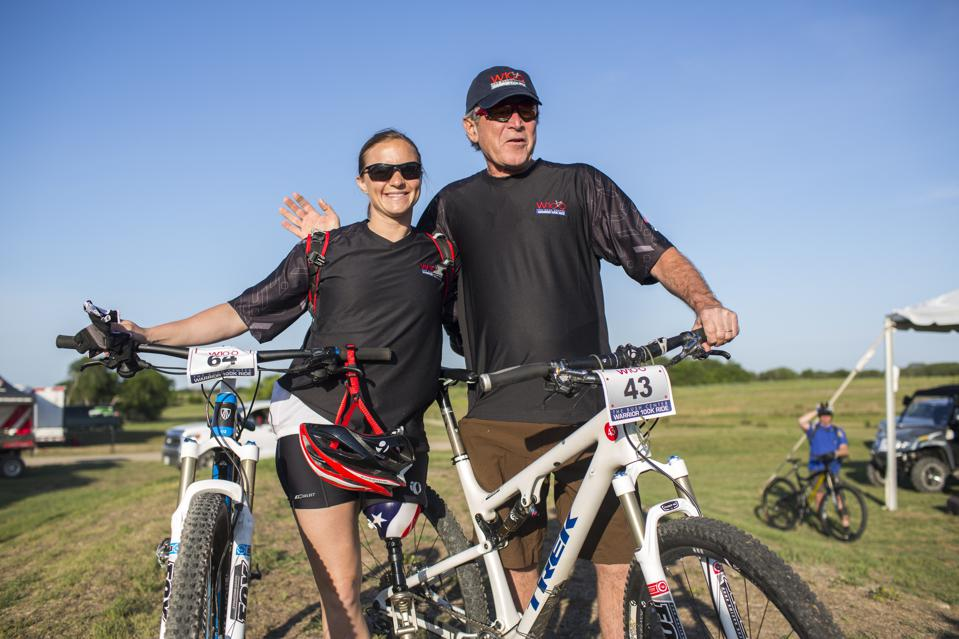 George W. Bush leads wounded military veterans ride on his Texas ranch